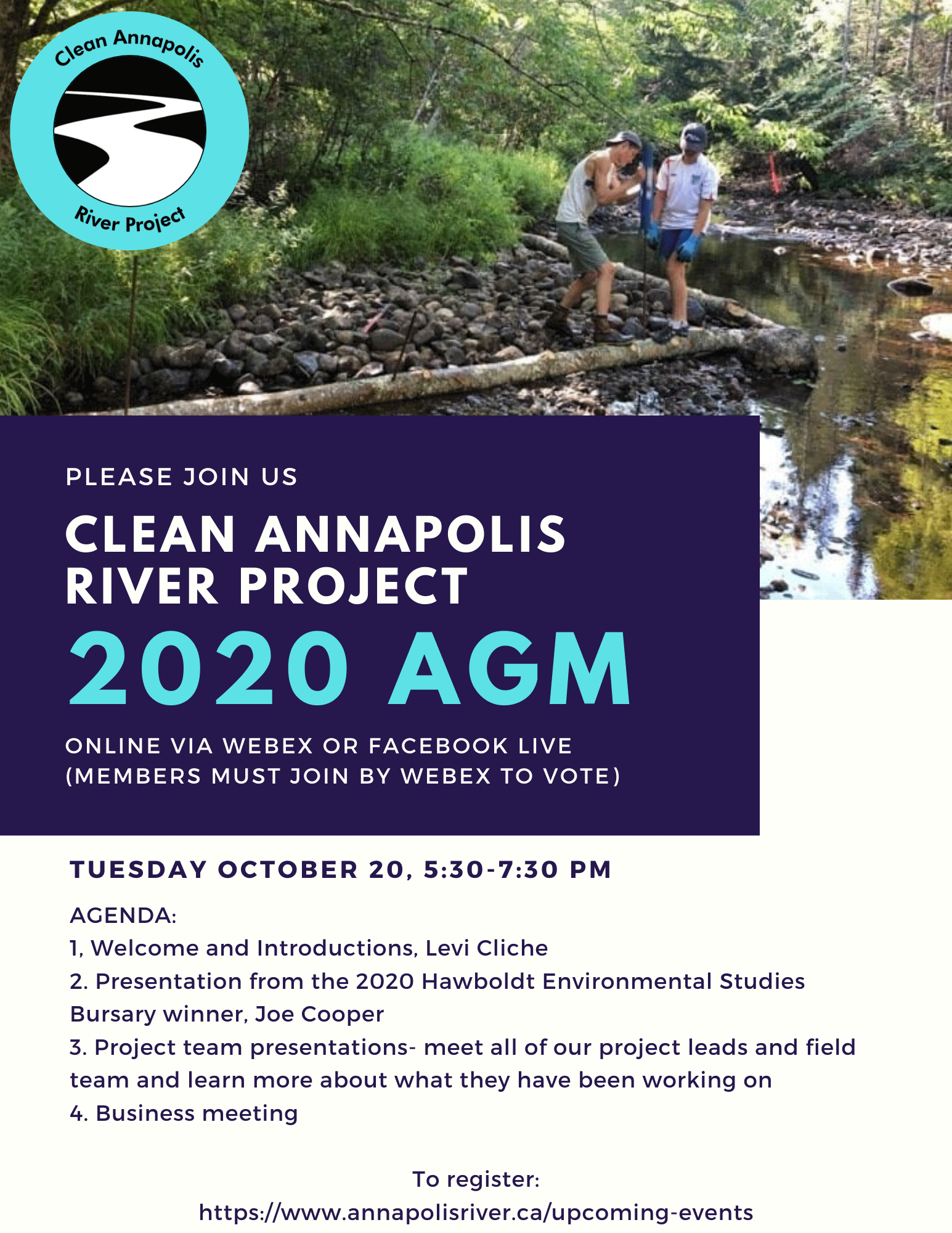 Clean Annapolis River Project - AGM Oct 20, 2020