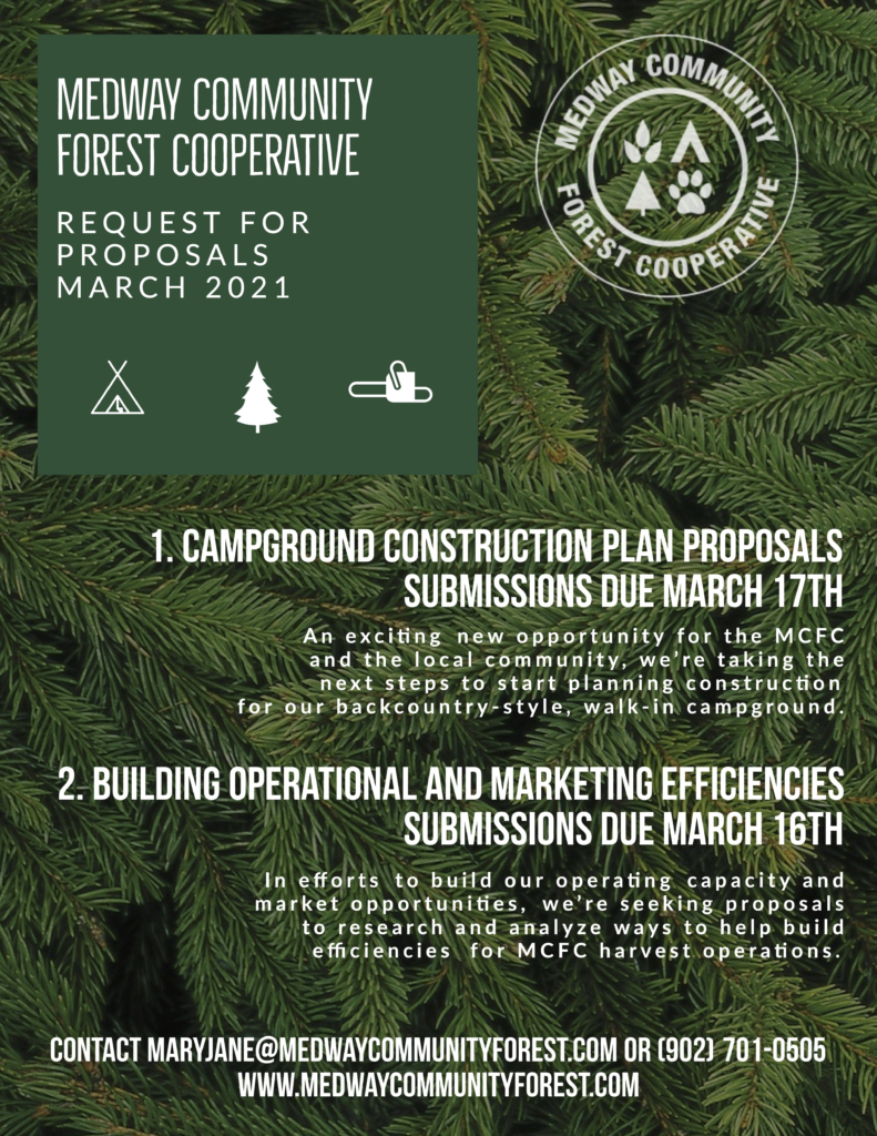 Medway Community Forest Co-op, Request for Proposals, March 2021