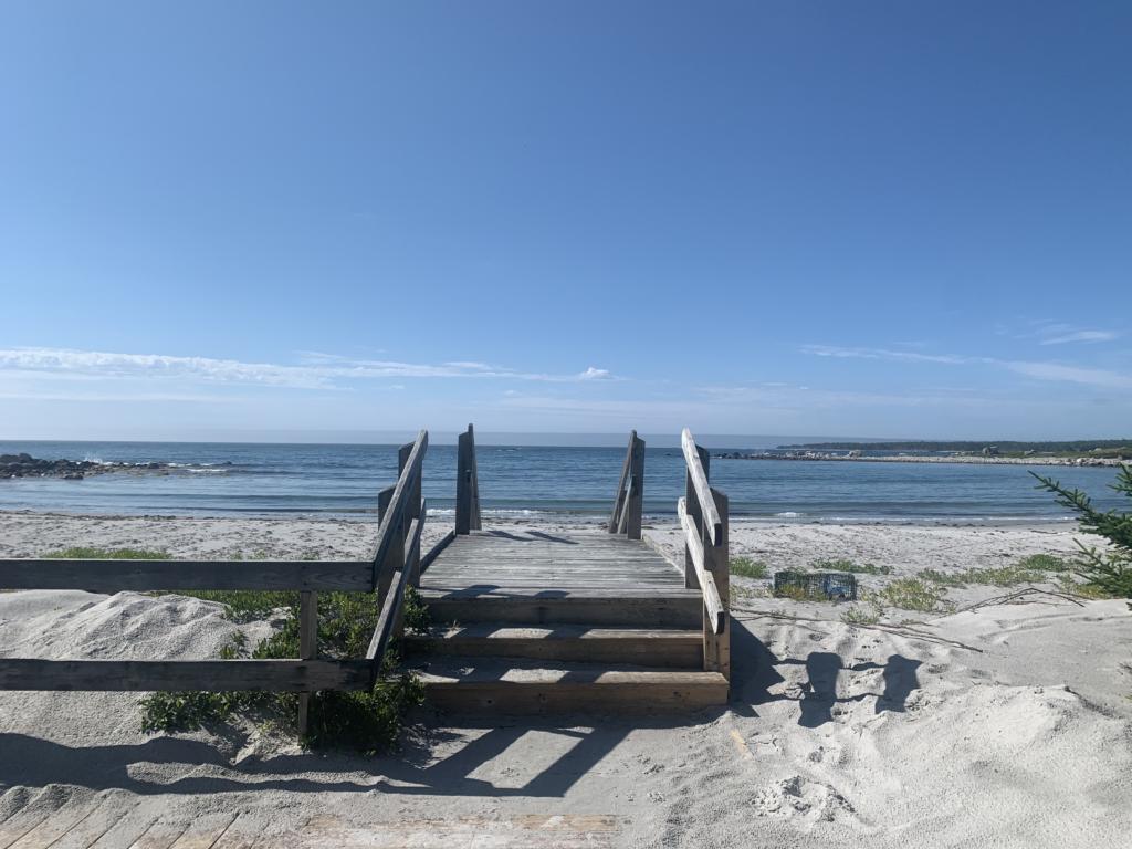 White beach sand on N Nova Scotia South Shore