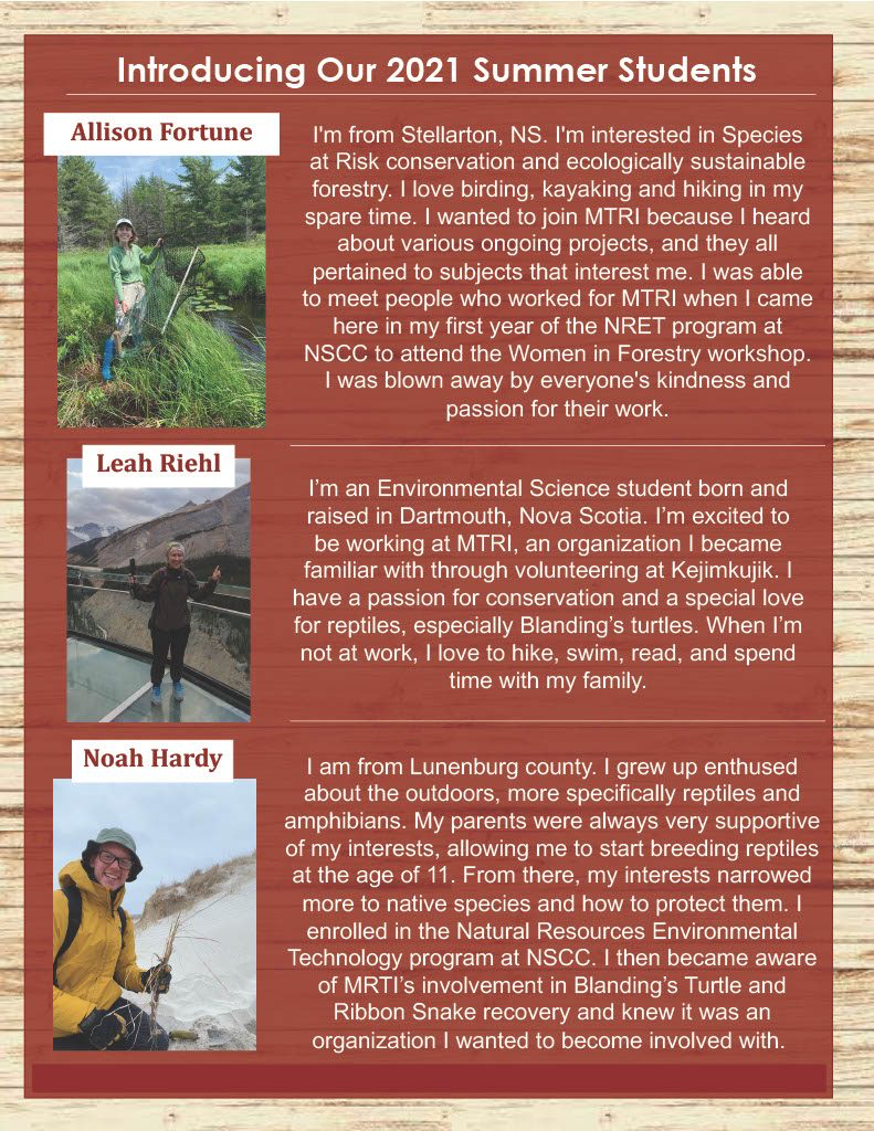MTRI Summer Newsletter, Page 2 - summer students